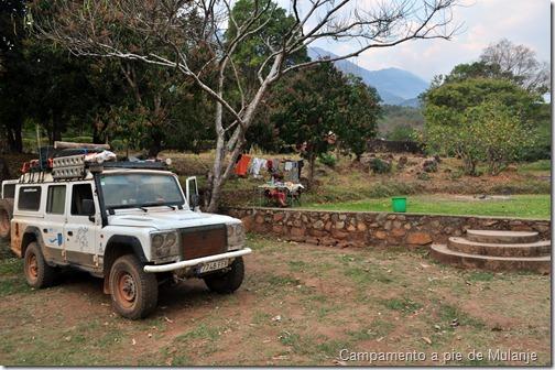 Campamento a pie de Mulanje